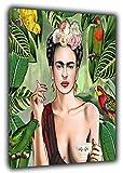 ARTSPRINTS frida Kahlo con Amigos Öl mit Bild Druck auf Leinwand Kunstdruck Home Dekoration Kunst, Malerei, 24 x 20inch - 18mm depth