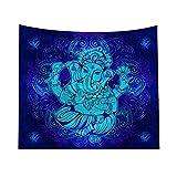 Pinji Tapisserie Murale Mandala Tenture Murale Style Eléphant Indien Psychédélique Couvre-lit Tapisserie Hippie Drap de Plage Décoration de Chambre 200 * 150cm