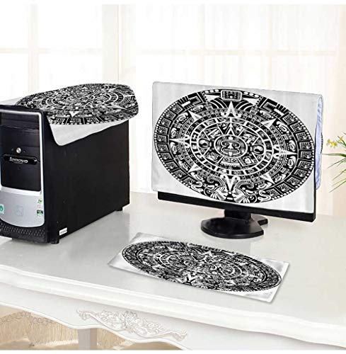 904fd0b4a788 Leighhome Computer Cover 3 Pieces Mayan Calendar Apocalypse Astromy  Traditial LIEF Ethnicity Culture Antistatic, Water Resistant /26