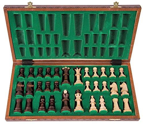 Schach-Schachspiel-SENATOR-LUX-41-x-41-cm-Schachfiguren-Schachbrett-aus-Holz