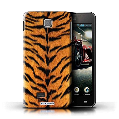 Kobalt® Imprimé Etui / Coque pour LG Optimus F5/P875 / Vache/Noir conception / Série Motif Fourrure Animale Tigre