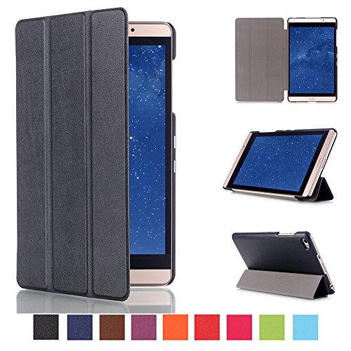 Kepuch Custer Huawei Mediapad M2 8.0 Hülle - Shell Schutzhülle PU Tasche Smart Case Cover für Huawei Mediapad M2 8.0 - Schwarz