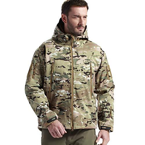 FREE SOLDIER Gratis Soldier Herren Jacken Outdoor Wasserdicht Softshell Hooded Tactical Jacket Hooded Softshell Jacke