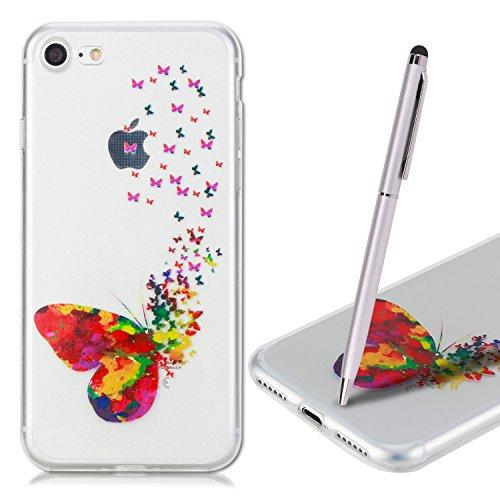 Coque iPhone 7 Plus , iPhone 7 Plus Etui , CaseLover Ananas Motif Mode Etui Coque TPU Slim pour Apple iPhone 7 Plus (5.5 pouces) Mode Flexible Souple Soft Case Couverture Housse Protection Anti rayure cœur