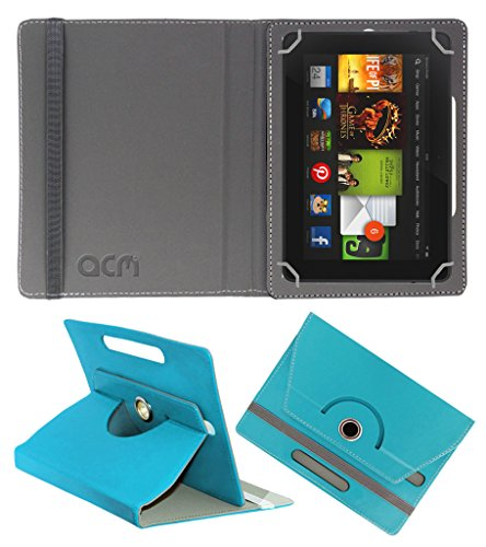 Acm Rotating 360° Leather Flip Case For kindle Fire Hd 7 2012 2nd Gen Tablet Cover Stand Greenish Blue  available at amazon for Rs.149