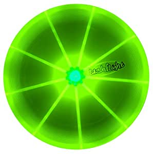 FlashFlight Frisbee professionale con LED - disponible en tre colori (Verde)