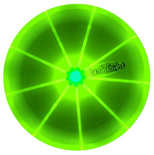 FlashFlight Frisbee professionale con LED - disponible en tre colori (Verde)