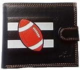 Syl'la ,  Herren-Geldbörse, Rugby (schwarz) - portrabat-francefoot