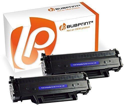 2 Bubprint Toner schwarz kompatibel für Samsung MLT-D101S / ELS ML-2165W SCX-3400 SCX-3405W ML-2160 SCX-3405 Series