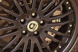Classic und Muscle Car-Anzeigen und Auto Art BMW Power M5Hurricane RR basierend auf BMW M5e61s (2014) Auto Art Poster Kunstdruck auf 10mil Archivierung Satin Papier schwarz Laufrad Nahaufnahme View, Papier, Black Wheel Closeup View, 40,6 x 30,5 cm
