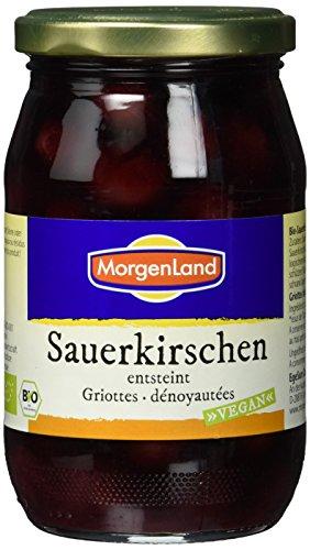 Morgenland Bio Sauerkirschen im Glas, entsteint, 6er Pack (6 x 360 g)