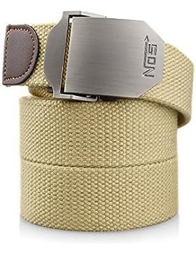 Cinturón Lona Hombre Militar Tactico Policia Negro Cinturónes Ocasional Todo-Fósforo Correa Hombres Cinturón 130cm...