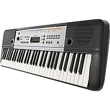 Yamaha YPT-255 - Teclado electrónico (61 teclas, 385 sonidos), color gris metal