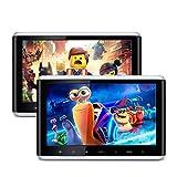 """XTRONS 10,2"""" Auto HD Touchscreen DVD Player für Auto Kopfstützen 1280 * 720 Headrest mit HDMI Port USB/SD Slot DVD Player tragbar IPS Bildschirm mit verstellbar Blickswinkel Auto Pad (HD1003x2)"""