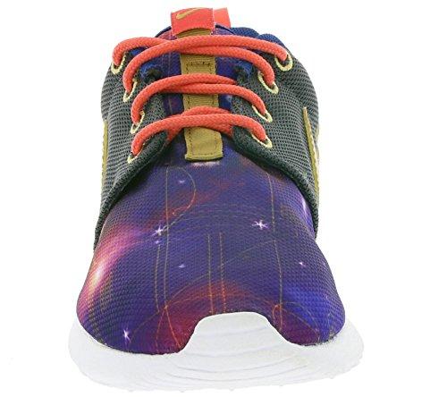 Nike  Roshe One Print (Gs),  Jungen Laufschuhe Violett / Grün / Gelb (Mtlc Hmtt / Mtllc Gld-Lt Pht Bl)