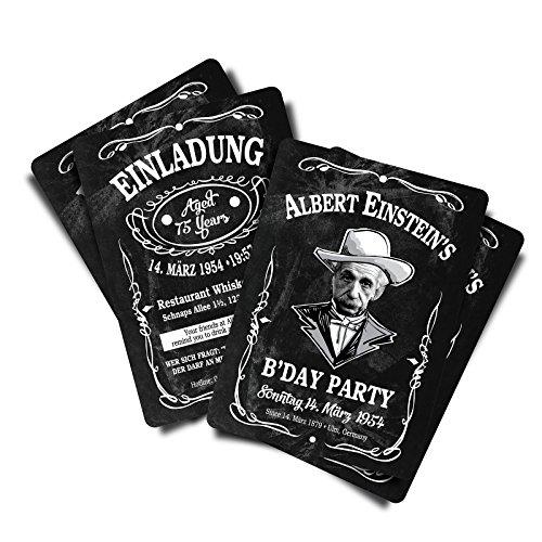 "30 Einladungskarten zum Geburtstag\""Dan Jackiel\'s\"" Whisky • Geburtstagseinladung • Postkarte • Geburtstagskarten"