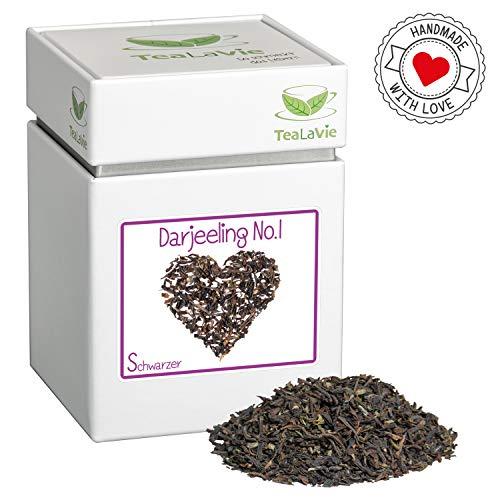 TeaLaVie – Loser Schwarztee | Darjeeling No.1 First flush FTGFOP1 – frisch, aromatisch | Schwarzer-Tee lose in edler Teedose für Teeliebhaber, ideal als Geschenk und Dankeschön | 100g Dose