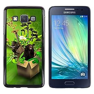 Be Good Phone Accessory // Hartschalen Handyhülle Schutzhülle Schutz Etui Hülle für Samsung Galaxy A3 SM-A300 // Design Box Animals Funny