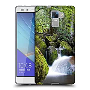 Snoogg Water Flowing Throiugh The Stones Designer Protective Phone Back Case Cover for Huawei Honor 7