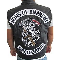 Veste gilet en cuir sans manche style Jax Sons of Anarchy (l)