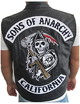 Chaleco de piel estilo Jax de Sons of Anarchy