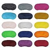 dreamtop 15Stück Multicolor Eye Schatten Cover Herren Kids Travel Schlaf Augenmaske Augenbinde Schlafsack mit Nase Pad für Frauen, 15Farben