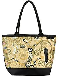 70bd83f499 VON LILIENFELD® Borsa Shopping Donna Tracolla Saccoccia Arte Gustav Klimt:  Albero della vita