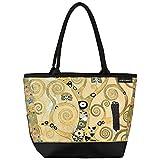 VON LILIENFELD Tasche Damen Henkeltasche Shopper Bedruckt Motiv Kunst Gustav Klimt Lebensbaum