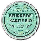 Beurre de Karité Bio Pur | Comptoir de la Nature | Hydratant et Nourrissant | Fabriqué en France | 100% naturel | Sans odeur ni conservateur | Raffiné | Satisfait ou remboursé | 150 ml