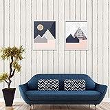 Papel Pintado Pared Rayas Mural Para Dormitorio Sala de Estar 0.53 * 10m (Papel pintado imitación madera)