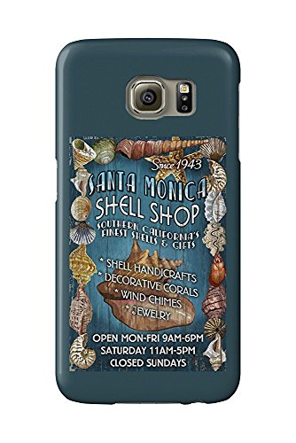 Santa Monica, California - Shell Shop Vintage Sign (Galaxy S6 Cell Phone Case, Slim Barely There)