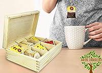 ARTE-DIRECTO Boîtes à thé en Bois Bonne Qualité Thé en Bois Pur Boîtes à Sucre, C'est l'une des Petites Boîtes de Rangement Idéales pour Une Tasse à thé Rapide