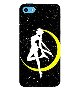 Vizagbeats Crescent Moon Dancing Girl Back Case Cover for Apple iPhone 5C