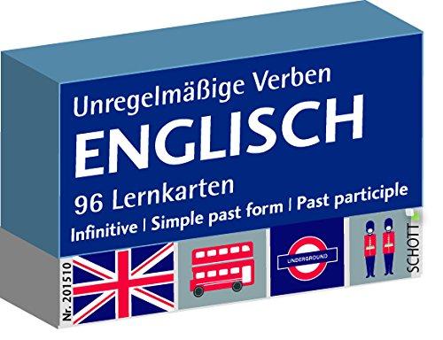 Englisch unregelmäßige Verben, Karteikarten, Vokabeln Deutsch-Englisch
