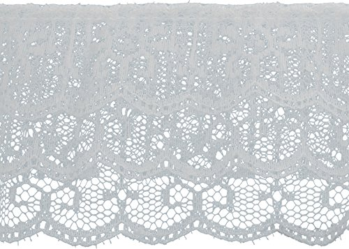 Decorative Trimmings 3 Tiered Ruffled Lace Trim 2-1/2