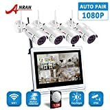 ANRAN Wireless Security System in white with 4 x1080p HD/2.0MP Outdoor/Indoor CCTV Cameras