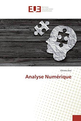 Analyse Numérique par Christo Iliev