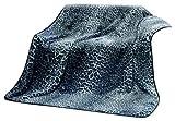 Gözze Wohn- und Kuscheldecke, Cashmere Feeling, 150 x 200 cm, Schneeleopard, Silber, 40087-90-5020