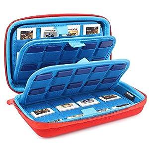 Nintendo 3ds/ 2ds 2ds Xl Tasche Nintendo Karten Tasche, Tasche Für Nintendo Switch Mit 40 Nintendo Switch Game Cards Und 32 Micro-Sd Karten