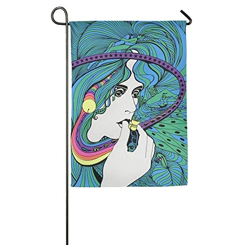 Yall Like Em Hot Crawfish on Blue 18 x 13 Rectangular Double Applique Small Garden Flag (Kuchen Stand Double)
