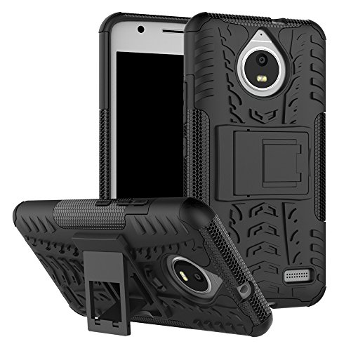QiongniAN Cover per Motorola Moto E4,Staffa Antiurto Custodia per Motorola Moto E4 XT1760 XT1762 XT1763 XT1764 XT1767 XT1767PP XT1768 XT1769 / Moto E Gen 4 Custodia Case Cover Black