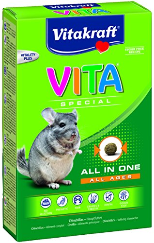 Vitakraft Vita Special All in One, Hauptfutter für Chinchillas, 600 g Packung (1 x 600 g) (Mais Vitakraft)
