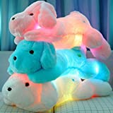 Wewill Brand Creative Night Light LED Stuffed Animals Lovely Soft Toy Dog Glow Plush Toys Gifts for Kids 18-Inch/ 45CM (Blue)