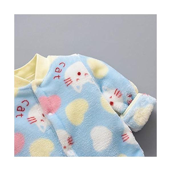 Pijama Bebe 0-18 Meses Mameluco cálido recién Nacido bebé Dibujos Animados Fleece Caliente Mono Suave Pijama de una… 4