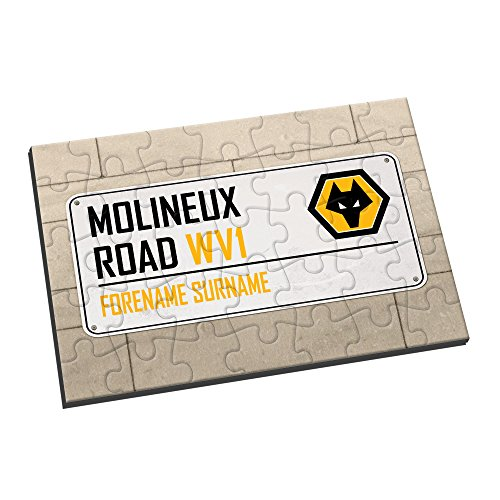 Wolverhampton Wanderers FC Official PERSONALISED Wolves Street Sign Jigsaw Puzzle - FREE PERSONALISATION