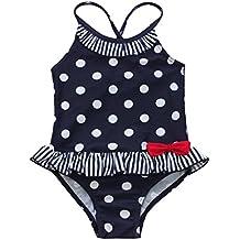 iEFiEL Bikini Bañador de Una Pieza con Lunares/Estampado Floreado para Niñas Bébes Traje de Baño de Vacaciones de Verano