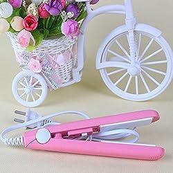 RVS Fashion Mini Hair straightener Iron Pink Ceramic -Color5
