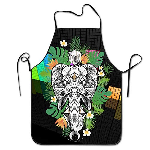 AORSTAR Non-Toxic K¨¹Che Sch¨¹rzen for Women Personalised Sch¨¹rzen Dress Men Cooking Sch¨¹rzen Pinafore Tropical Desert Palm Elephant Sch¨¹rzen,Eco-Friendly Art Decor Tie-Dye