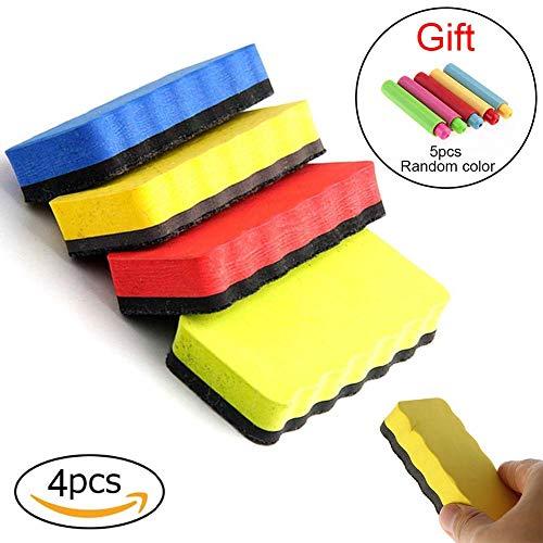 Xiton 1 Pacco Magnetico Whiteboard Eraser Set Lavagna Gomma Più Pulita Colorato Plastica Chalk Holder Set Stazionario Per Casa Scuola E Ufficio (Casuale)
