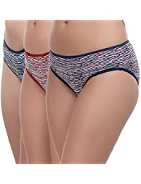 Softline Butterfly Women's Cotton Panty (Pack of 3)(Colors & Print May Vary)